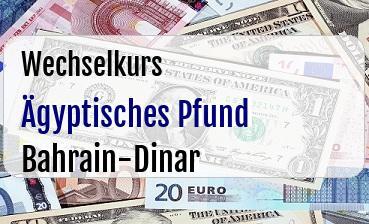 Ägyptisches Pfund in Bahrain-Dinar