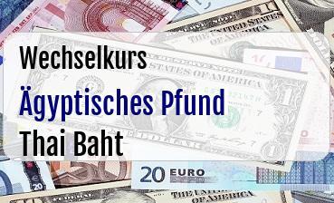Ägyptisches Pfund in Thai Baht