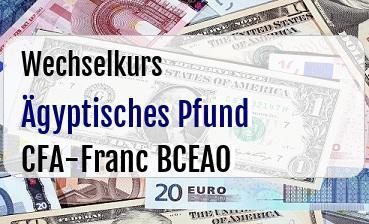 Ägyptisches Pfund in CFA-Franc BCEAO