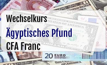 Ägyptisches Pfund in CFA Franc