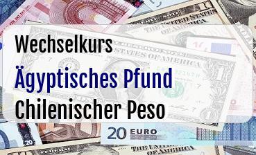 Ägyptisches Pfund in Chilenischer Peso