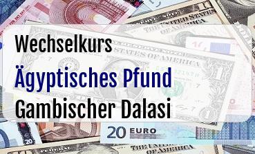 Ägyptisches Pfund in Gambischer Dalasi