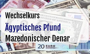 Ägyptisches Pfund in Mazedonischer Denar