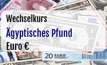 Ägyptisches Pfund in Euro