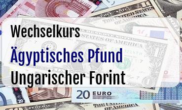 Ägyptisches Pfund in Ungarischer Forint
