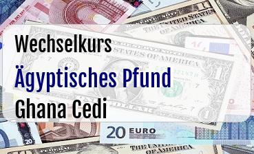 Ägyptisches Pfund in Ghana Cedi