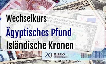 Ägyptisches Pfund in Isländische Kronen