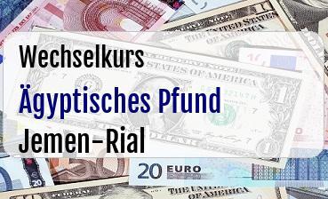 Ägyptisches Pfund in Jemen-Rial