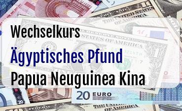 Ägyptisches Pfund in Papua Neuguinea Kina