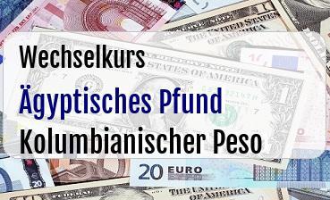 Ägyptisches Pfund in Kolumbianischer Peso