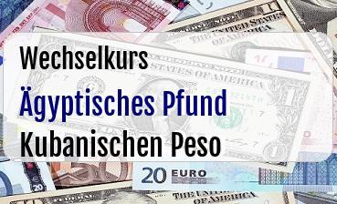 Ägyptisches Pfund in Kubanischen Peso