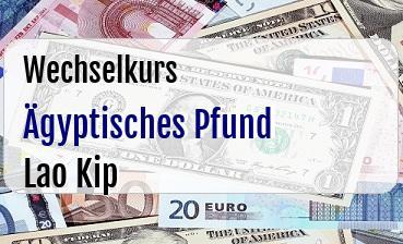 Ägyptisches Pfund in Lao Kip