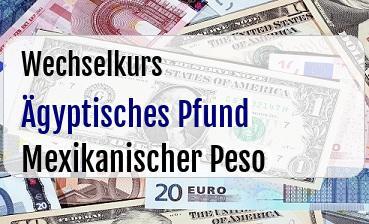 Ägyptisches Pfund in Mexikanischer Peso