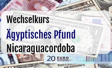 Ägyptisches Pfund in Nicaraguacordoba