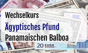 Ägyptisches Pfund in Panamaischen Balboa