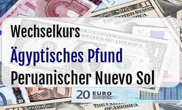 Ägyptisches Pfund in Peruanischer Nuevo Sol