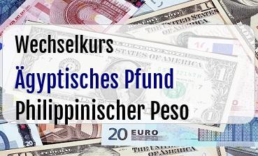 Ägyptisches Pfund in Philippinischer Peso