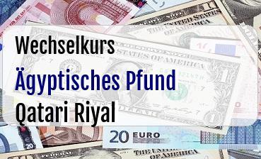 Ägyptisches Pfund in Qatari Riyal