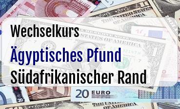 Ägyptisches Pfund in Südafrikanischer Rand