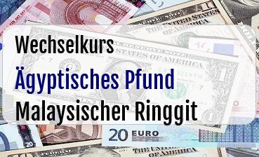 Ägyptisches Pfund in Malaysischer Ringgit