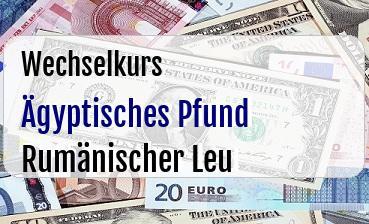 Ägyptisches Pfund in Rumänischer Leu