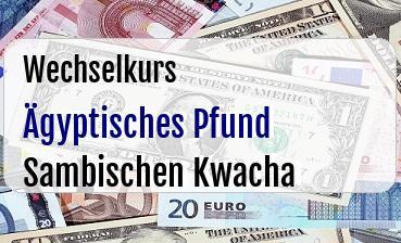 Ägyptisches Pfund in Sambischen Kwacha