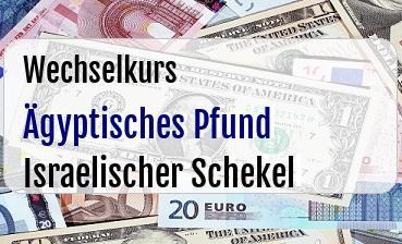 Ägyptisches Pfund in Israelischer Schekel