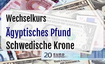 Ägyptisches Pfund in Schwedische Krone