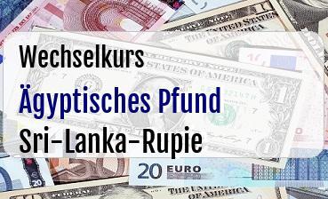 Ägyptisches Pfund in Sri-Lanka-Rupie