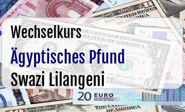 Ägyptisches Pfund in Swazi Lilangeni