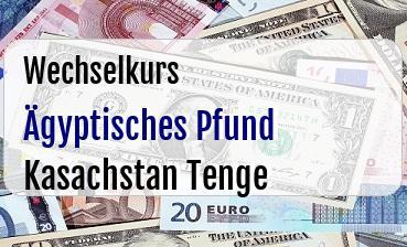 Ägyptisches Pfund in Kasachstan Tenge