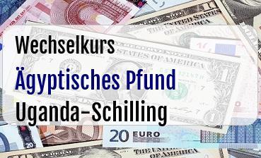 Ägyptisches Pfund in Uganda-Schilling