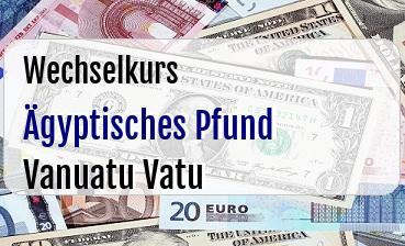 Ägyptisches Pfund in Vanuatu Vatu