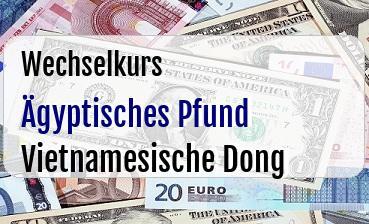 Ägyptisches Pfund in Vietnamesische Dong