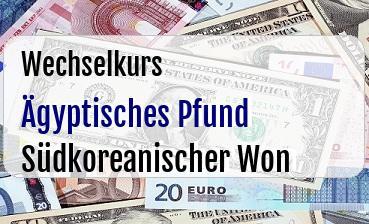 Ägyptisches Pfund in Südkoreanischer Won