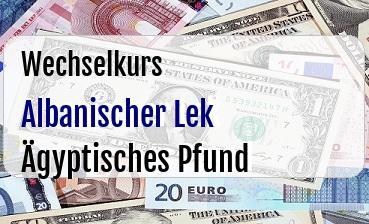 Albanischer Lek in Ägyptisches Pfund
