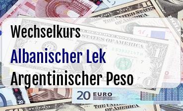 Albanischer Lek in Argentinischer Peso