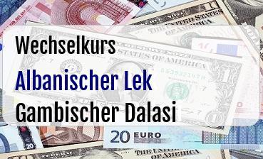 Albanischer Lek in Gambischer Dalasi