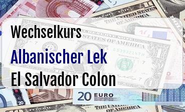 Albanischer Lek in El Salvador Colon