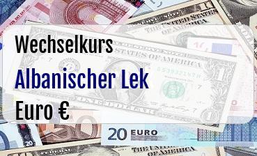 Albanischer Lek in Euro