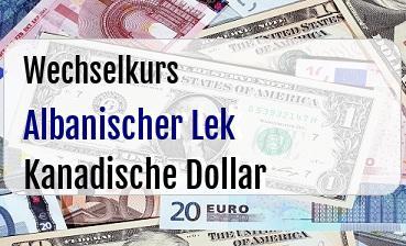 Albanischer Lek in Kanadische Dollar