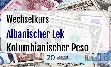 Albanischer Lek in Kolumbianischer Peso