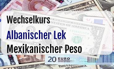 Albanischer Lek in Mexikanischer Peso