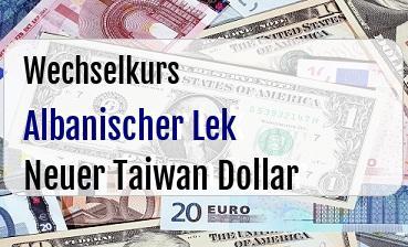 Albanischer Lek in Neuer Taiwan Dollar