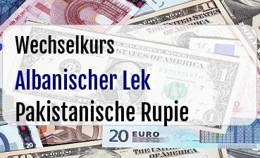 Albanischer Lek in Pakistanische Rupie