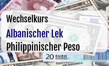 Albanischer Lek in Philippinischer Peso