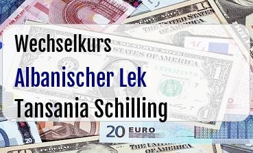 Albanischer Lek in Tansania Schilling