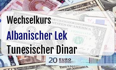 Albanischer Lek in Tunesischer Dinar