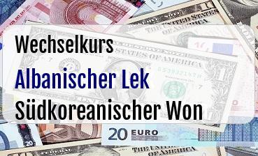 Albanischer Lek in Südkoreanischer Won