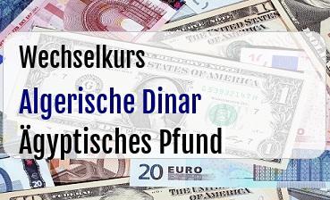 Algerische Dinar in Ägyptisches Pfund